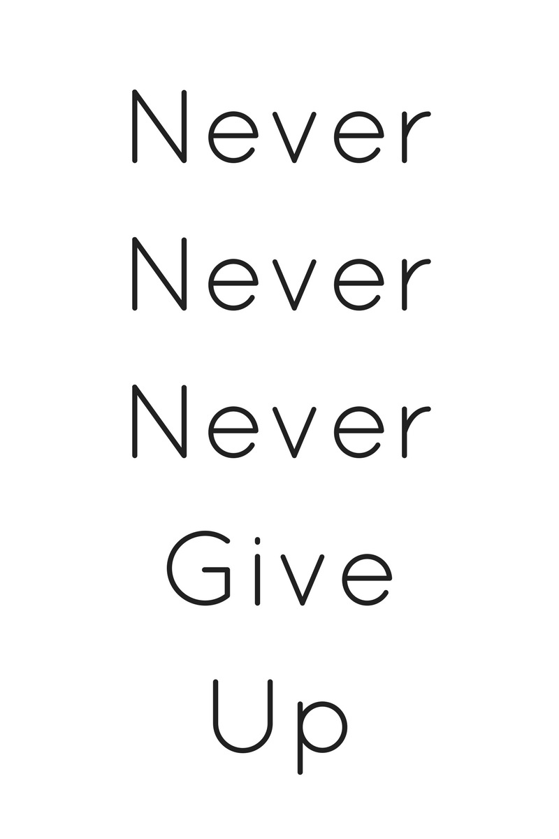 Work Hard Quotes | Never Never Never Give Up & More Great Quotes